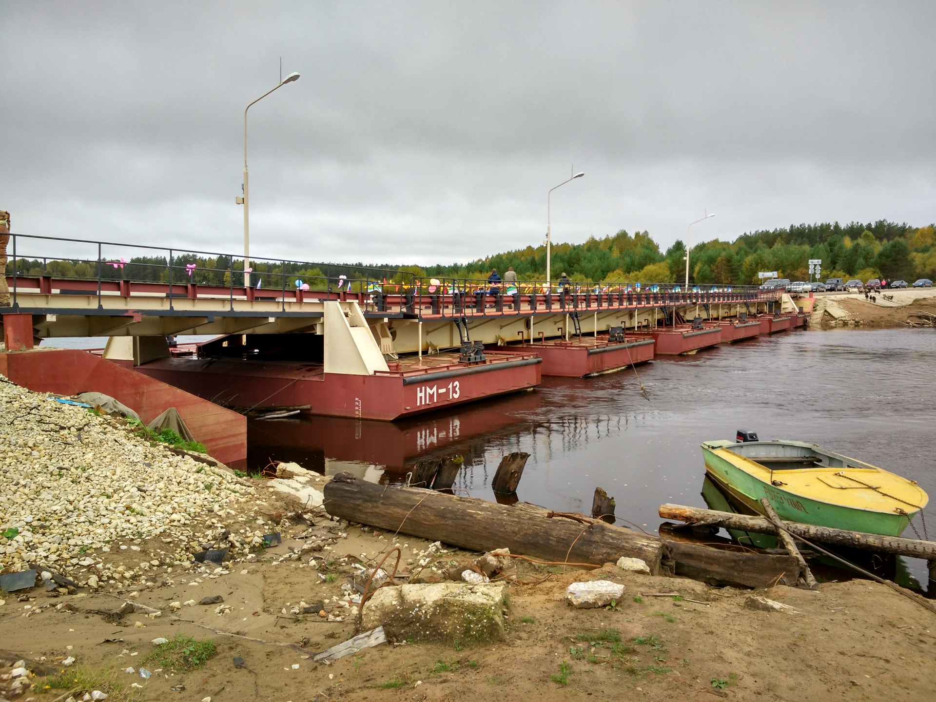В поселке Заозерье Сысольского района открыли новый понтонный мост