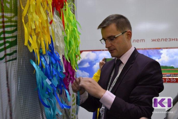 Дмитрий Шатохин посетил презентационную площадку Коми на Всемирном фестивале молодежи и студентов в Сочи