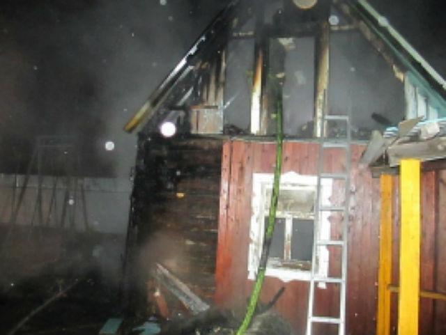 Из-за неосторожного обращения с огнем под Сыктывкаром сгорел дачный дом
