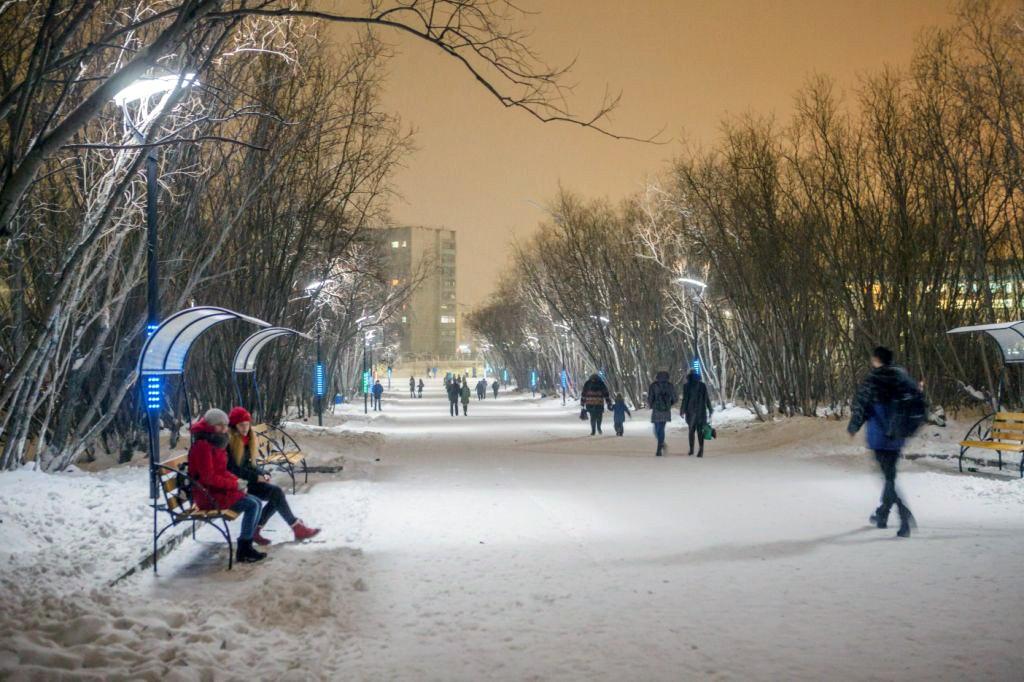 В Воркуте торжественно открыли обновленный Парк пионеров