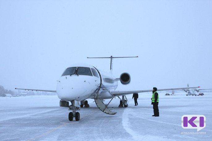 Из-за непогоды в Сыктывкаре приземлился самолет Москва - Ухта