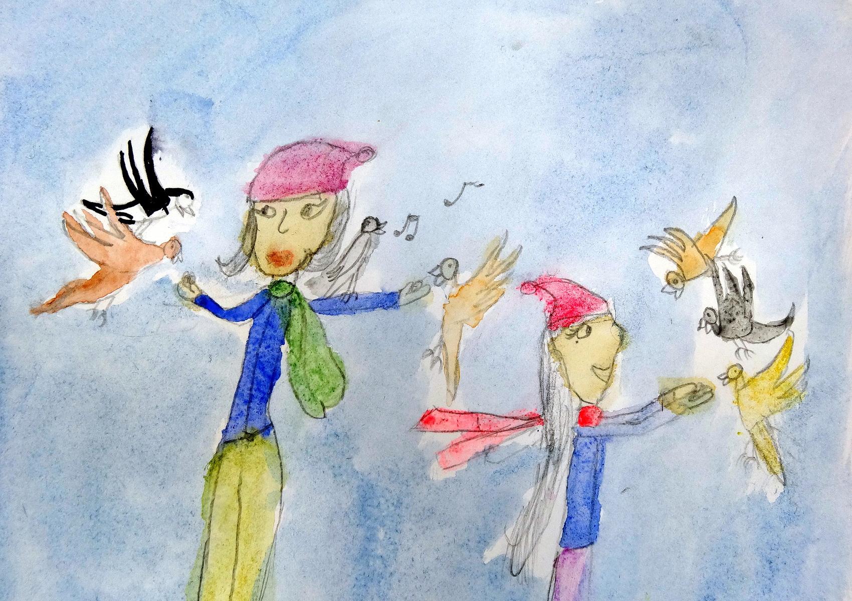 Международный конкурс детского рисунка все голубо все зелено г торунь 2017