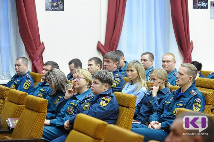 В МЧС Коми чествовали пожарных-волонтеров