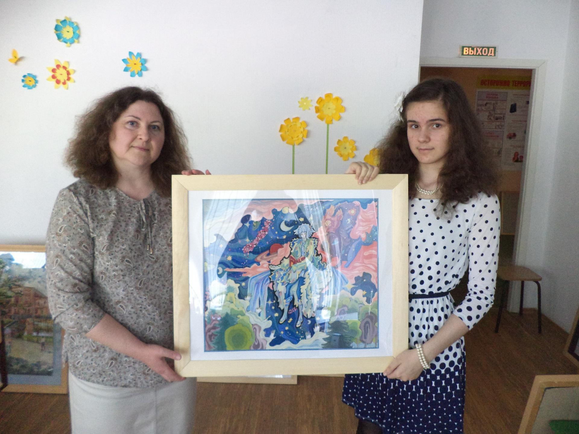 Юная художница из Эжвы победила на российском и международном конкурсах