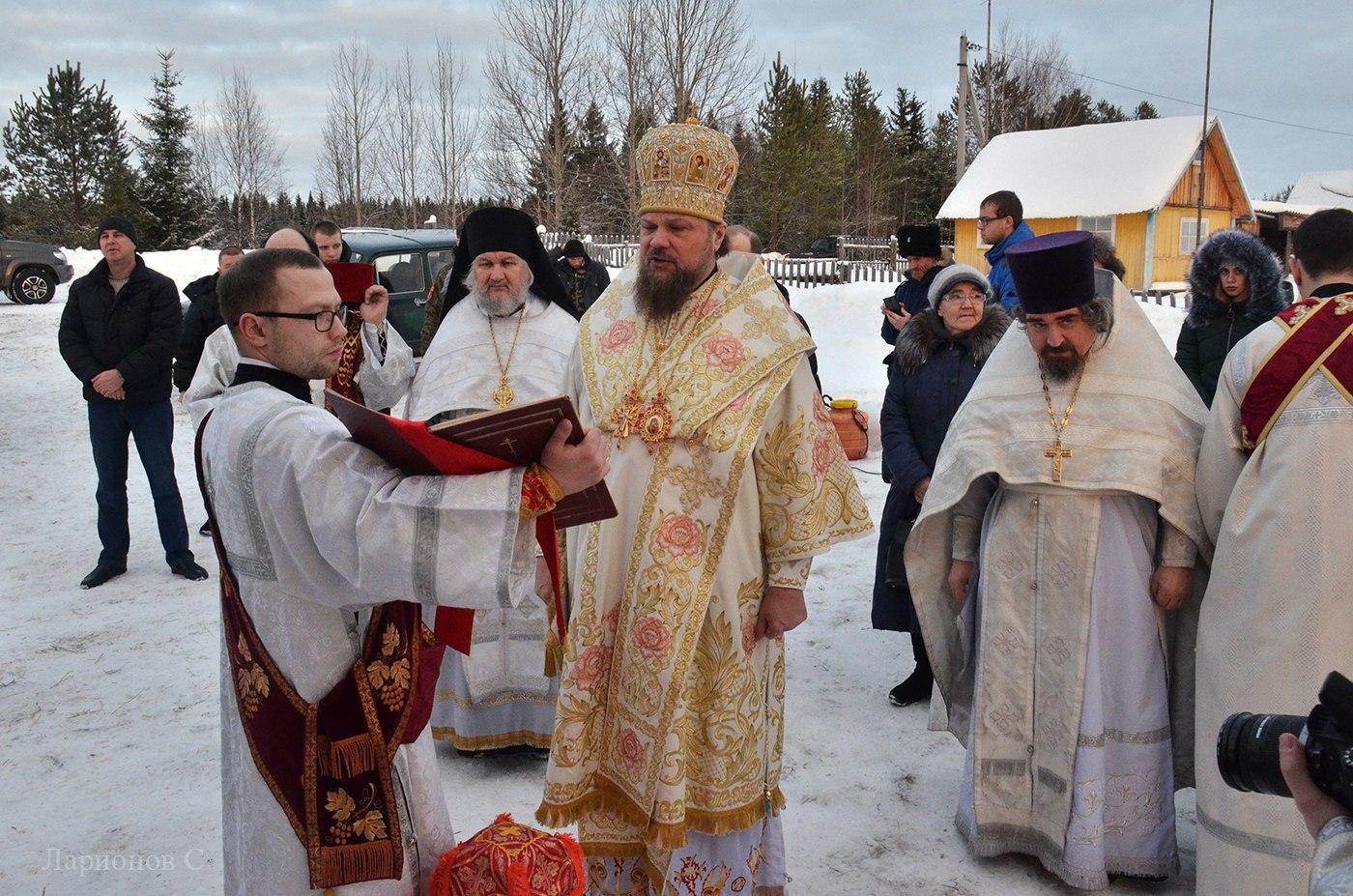 Владыка Питирим освятил храм Святителя Николая Чудотворца в деревне Аким