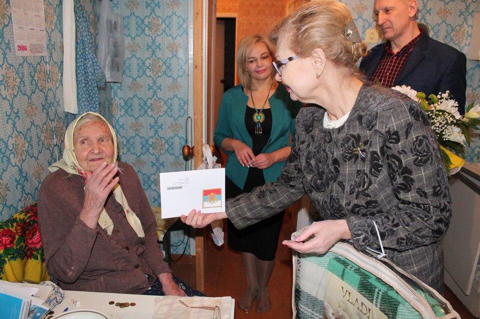В Инте 90-летие отметила ветеран Великой Отечественной войны Клавдия Лапина