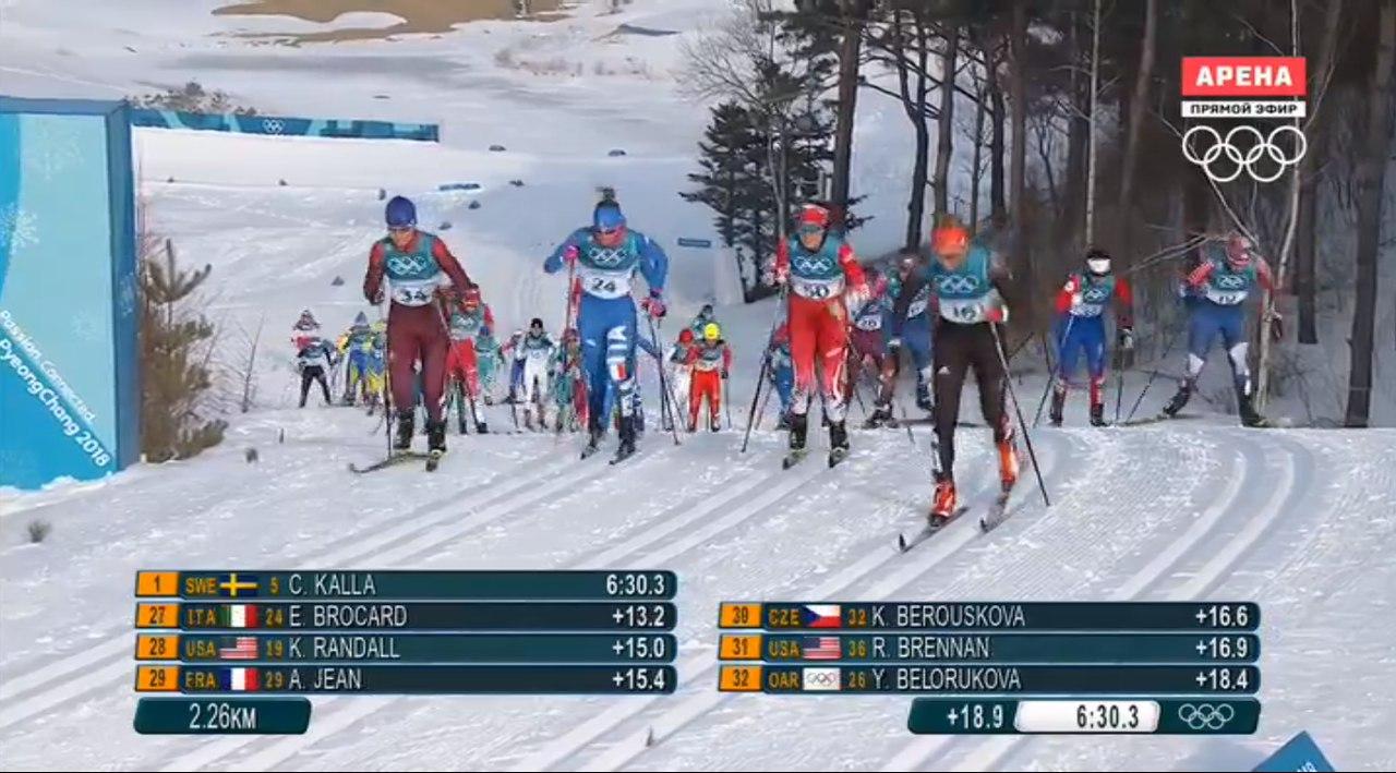 Лыжница из Коми Юлия Белорукова прибежала 18-й в скиатлоне Олимпиады-2018