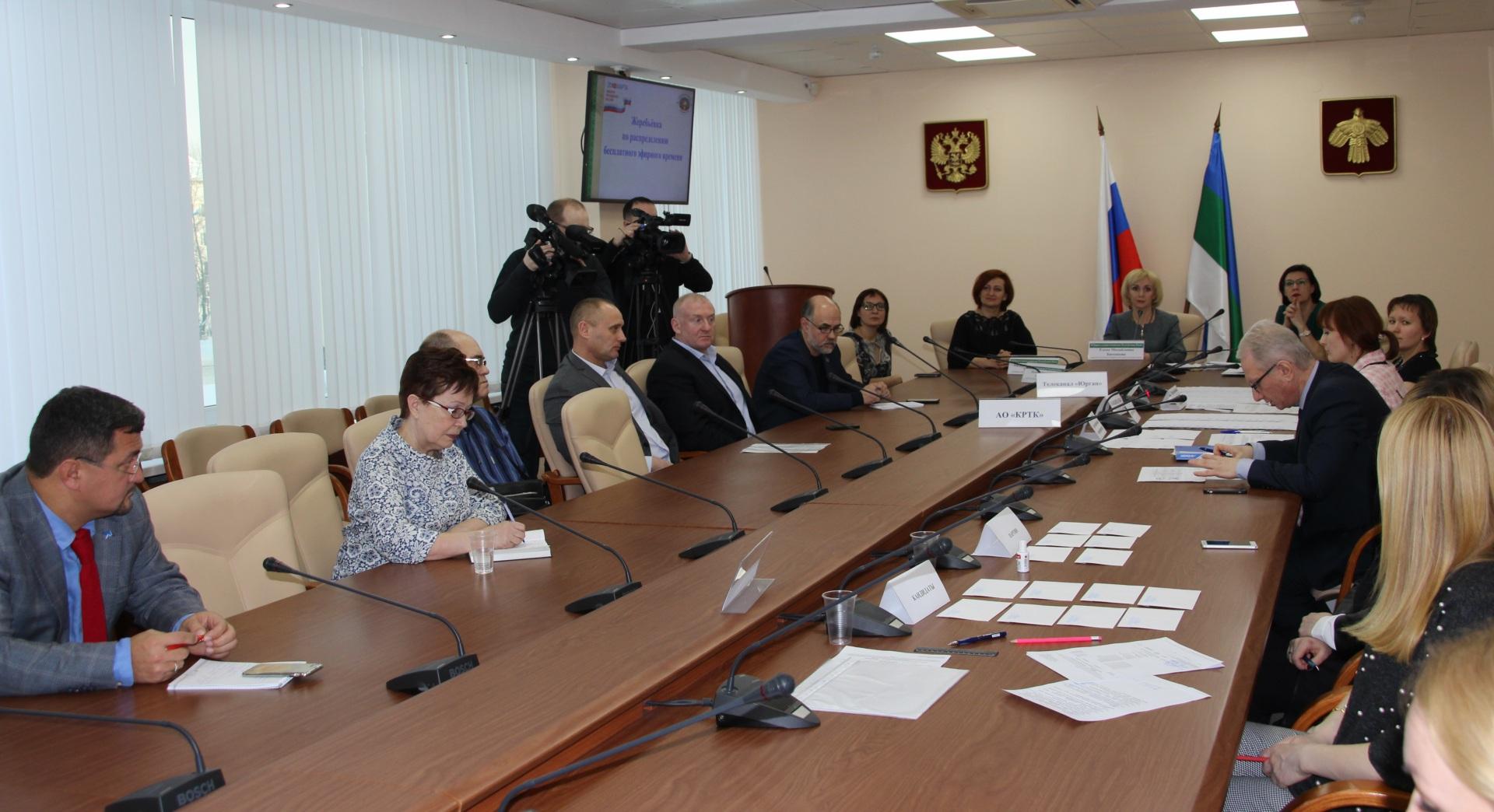 Избирком Коми провел жеребьевку по распределению бесплатного эфирного времени для предвыборной агитации