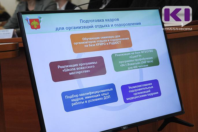 В Коми в летний период трудоустроят 370 вожатых