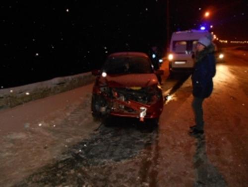 На трассе Сыктывкар-Троицко-Печорск женщина спровоцировала ДТП