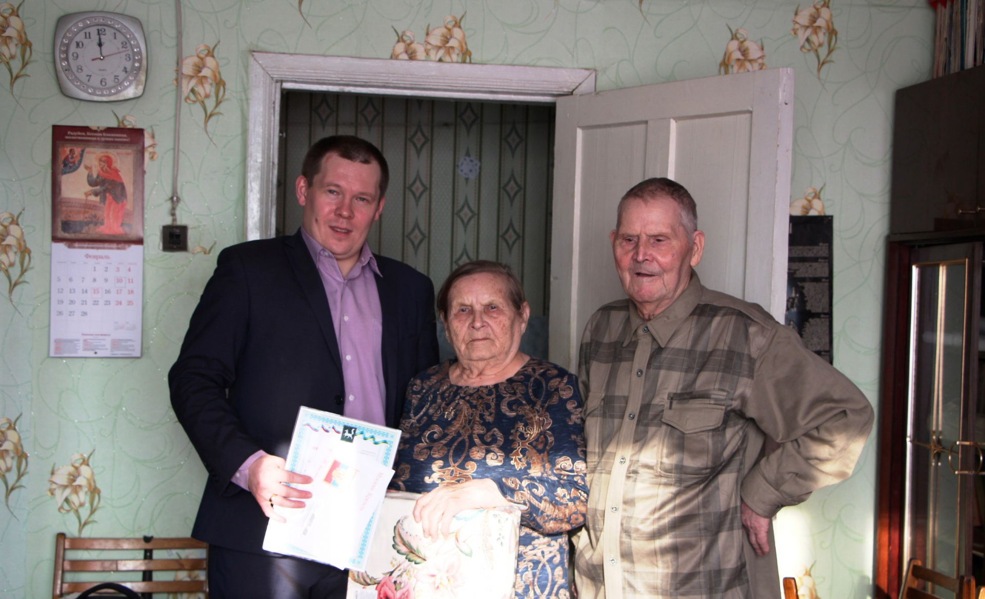 Жительница села Кослан Мария Красноярова отметила 90-летний юбилей