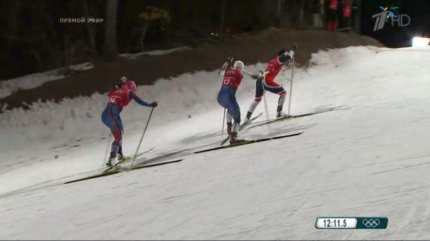 Лыжницы Юлия Белорукова и Наталья Непряева стали девятыми в командном спринте Олимпиады