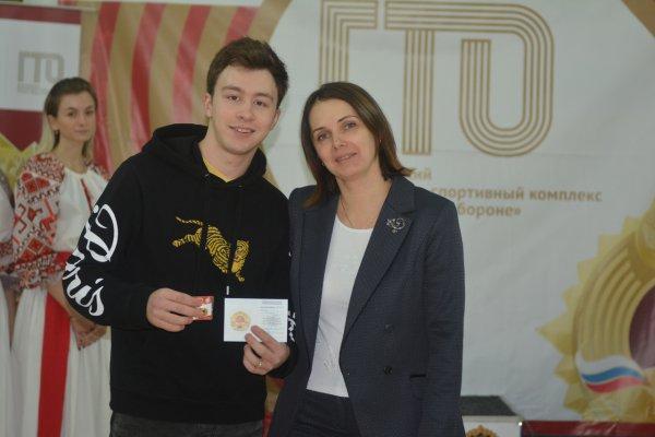 Дмитрий Алиев получил золотой знак ГТО